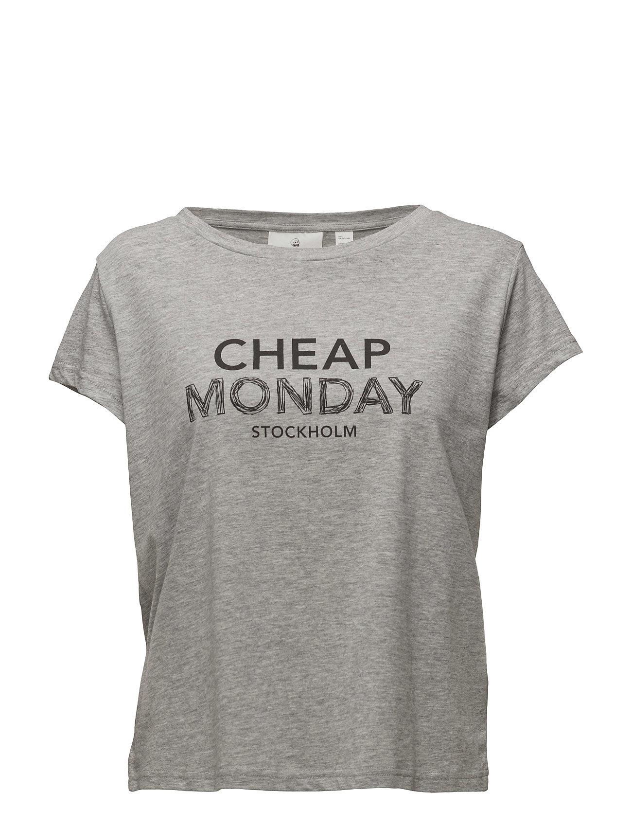 Have Tee Doodle Logo Cheap Monday Kortærmede til Damer i Grey Melange