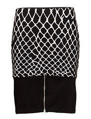 Fence skirt Print - BLACK