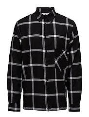 Squared shirt - BLACK