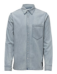 Squared denim shirt - IVY BLUE WASH
