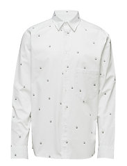 Arced shirt Skulls - WHITE