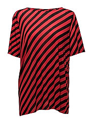 Avant top Slash stripe - RED/BLACK