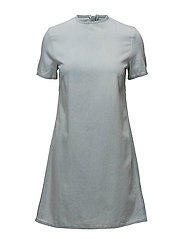 Collage dress - PALE BLUE