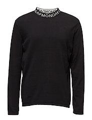Dissent knit Logo neckline - BLACK