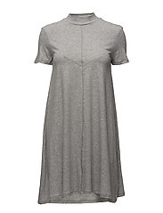 Jagged dress - GREY MELANGE