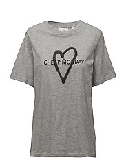 Breeze tee Love logo - GREY MELANGE