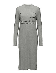 Strict long dress One card - GREY MELANGE