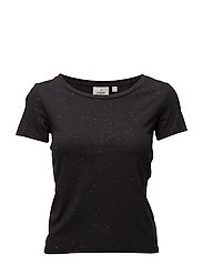 Home glitter top - BLACK