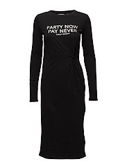 Late dress Party now - BLACK