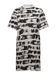 Smash dress Paint stripe - BLACK / WHITE