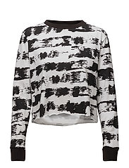 Bed LS tee Paint stripe - BLACK / WHITE