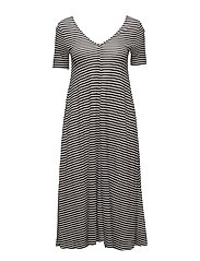 Disown dress Small stripe - BLACK/WHITE