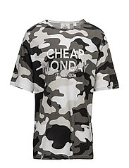 Spacious tee After camo L - WHITE