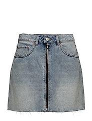 Zip short skirt - Blue blaze