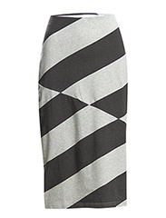 Move skirt Diagonal Stripe - Pre grey melange/Used black