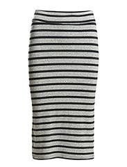 Brade skirt Stand stripe - Punk black/Grey melange