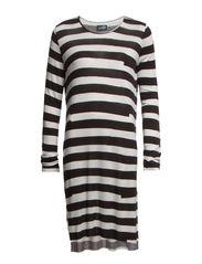 Stripe dress Gaffa stripe - White