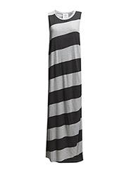 Messy dress Diagonal stripe - Pre grey melange/Used black