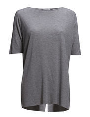 Enfold Top - Grey melange