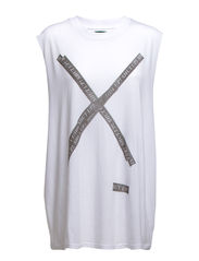 Morgon XL Tank Taped X - White