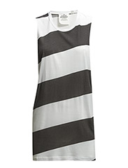 Trouble tank Diagonal stripe - Pre white/Used black
