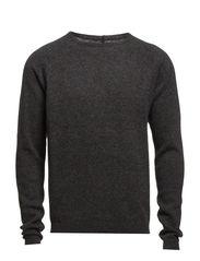 Slub knit - Dk grey melange