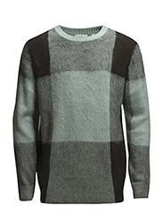 Moe knit - GREEN MIST CHECK
