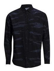 Rough shirt - Blue on black