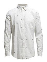 Air twill shirt Arrows AOP - White