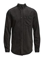 Bolt denim shirt - Washed black