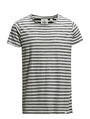 Cap tee Inside stripe - White