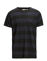 Standard Tee Smudgy Stripe - Navy/Black