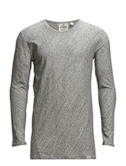 Burn LS tee Slub - grey