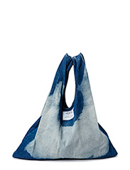 Shopper tote - Blue big bleach