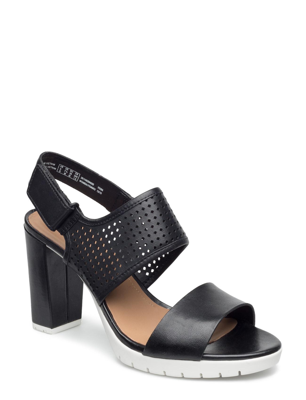 Pastina Malory Clarks Sandaler til Kvinder i Sort læder