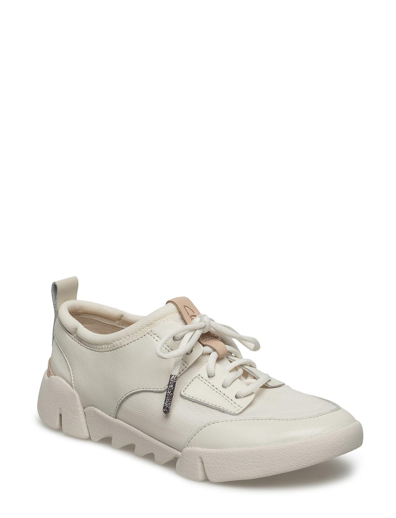 0a751c48e6a Tri Soul Clarks Sneakers til Damer i hvid   Unfairfashion.dk