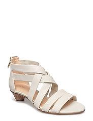 Mena Silk - White Leather