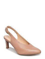 Calla Violet - Beige Leather