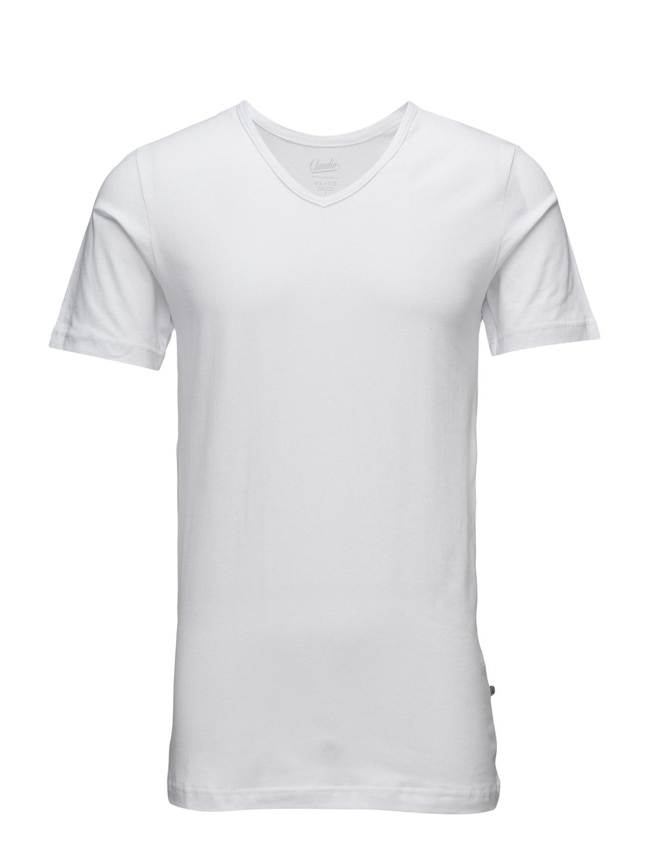 Highline Mens T-Shirt V Neck Claudio Kortærmede til Herrer i hvid