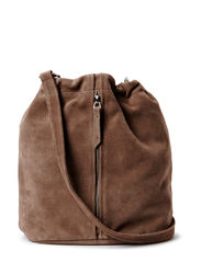 SOFT BUCKET BAG - TAUPE BROWN