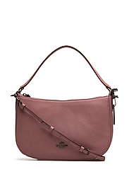 Polished Pebble Lthr Chelsea Crossbody - DK/DUSTY ROSE
