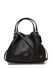 Polished Pebble Lthr Edie 28 Shoulder Bag - LI/BLACK