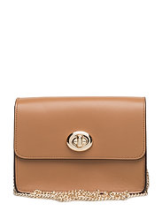 Refined Calf Lthr Bowery Crossbody - LI/LIGHT SADDLE