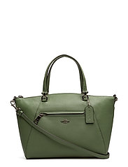 Polished Pebbled Lthr Prairie Satchel - SV/CLOVER