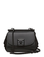 Mixed Leather Drifter Crossbody - MW/BLACK