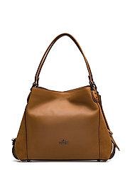 Mixed Leather Edie 31 Shoulder Bag - DK/LIGHT SADDLE