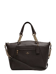 Polished Pebble Lthr Chain Prairie Satchel - LI/CHESTNUT