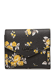 Print small wallet - DK/PRAIRIE PRINT BLACK