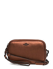 Metallic Crossbody Clutch - MW/METALLIC RUST