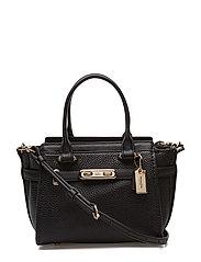 Pebbled Leather Refresh Coach Swagger 21 - LI/BLACK